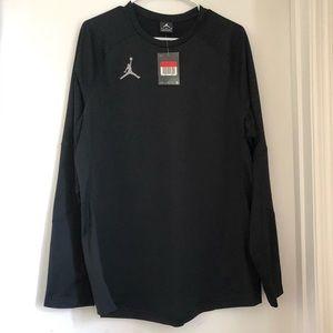 Jordan Black Long Sleeve Shirt, Men's Size Large